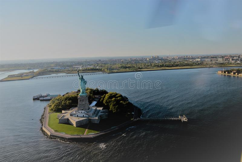 Statue of liberty on liberty island. The statue of liberty is a colossal sculpture on liberty island in new york stock photos