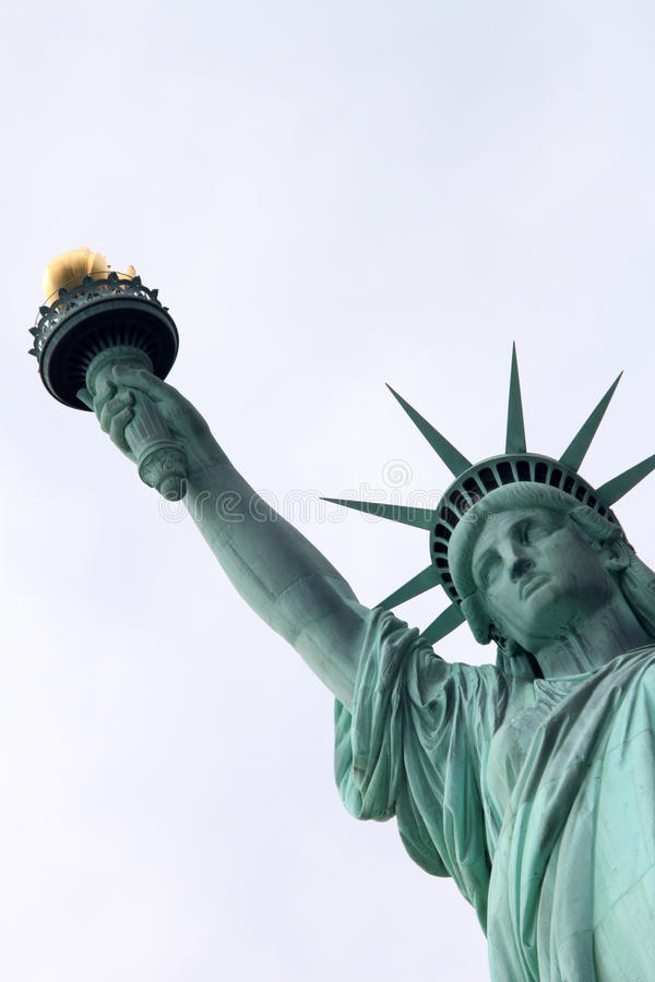 Statue of Liberty. Face in New York royalty free stock images