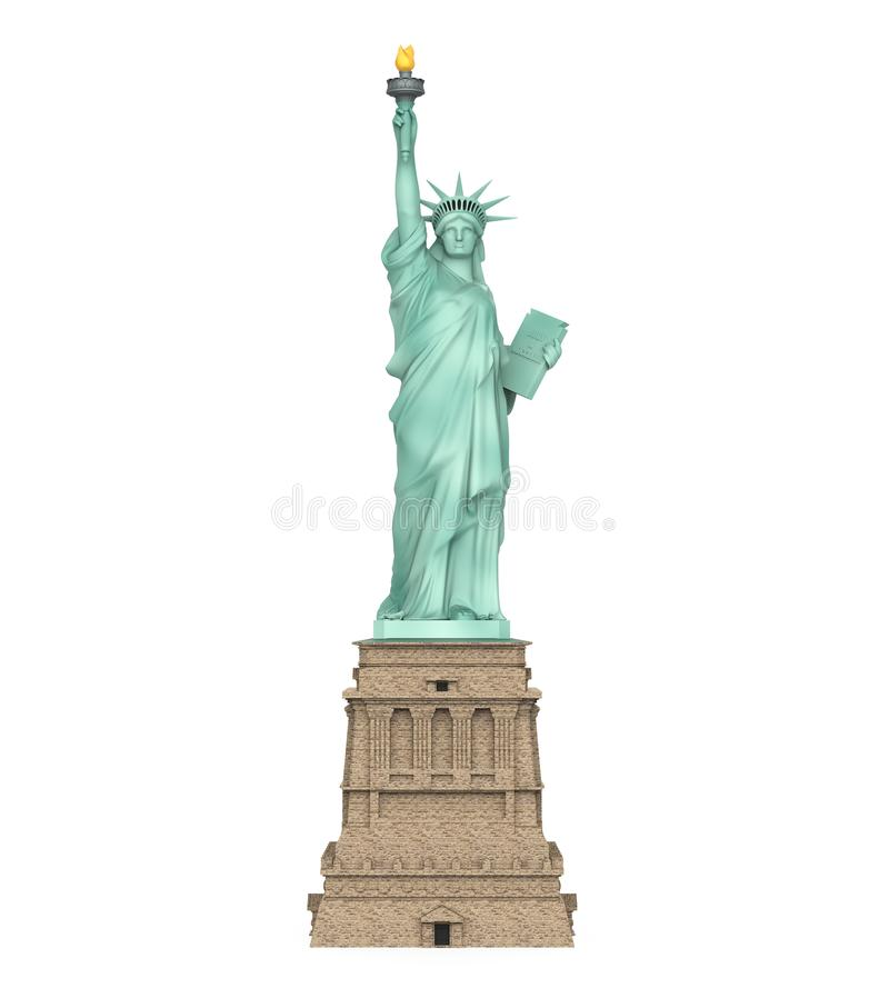 Statue of Liberty Isolated. On white background. 3D render vector illustration