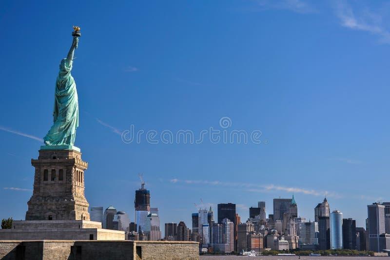 The statue of Liberty, Landmarks of New York City. The Statue of Liberty from Liberty Harbor stock image