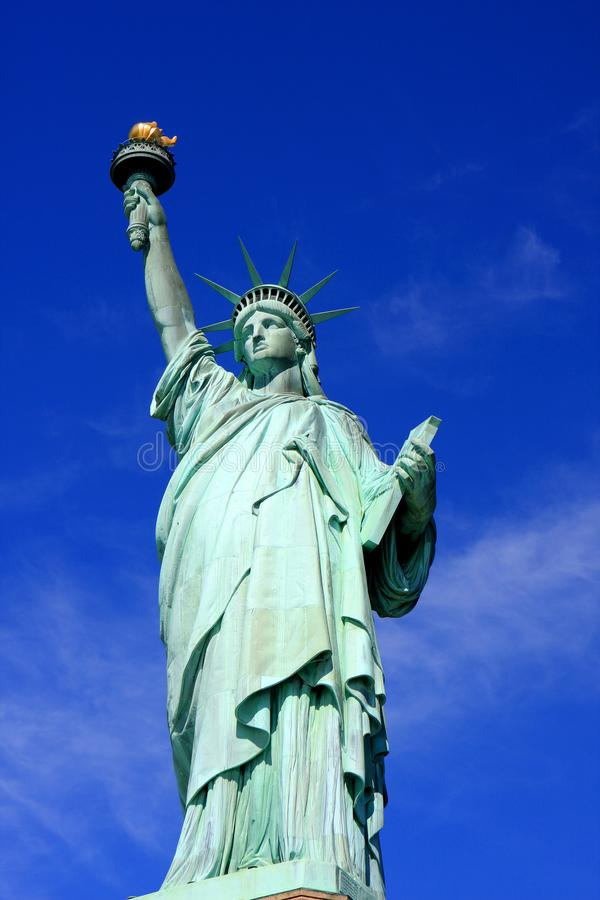 Statue of Liberty, New York city. The Statue of Liberty on Liberty Island in New York Harbor in New York City, United States royalty free stock photography