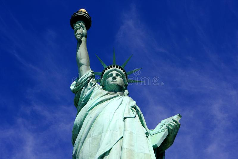 Statue of Liberty, New York city. The Statue of Liberty on Liberty Island in New York Harbor in New York City, United States stock image