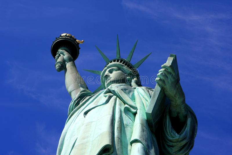 Statue of Liberty, New York city. The Statue of Liberty on Liberty Island in New York Harbor in New York City, United States royalty free stock photo