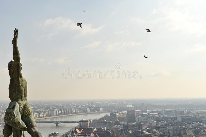 Statue of Liberty, Budapest royalty free stock photography