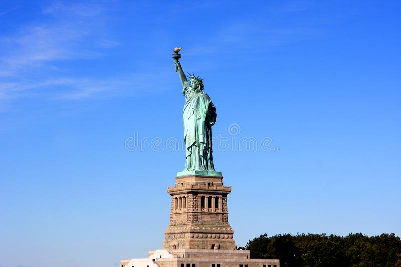 Statue of Liberty, New York city. The Statue of Liberty on Liberty Island in New York Harbor in New York City, United States stock photography