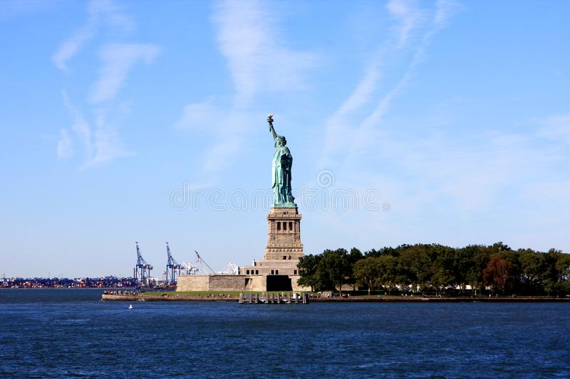Statue of Liberty, New York city. The Statue of Liberty on Liberty Island in New York Harbor in New York City, United States stock photo