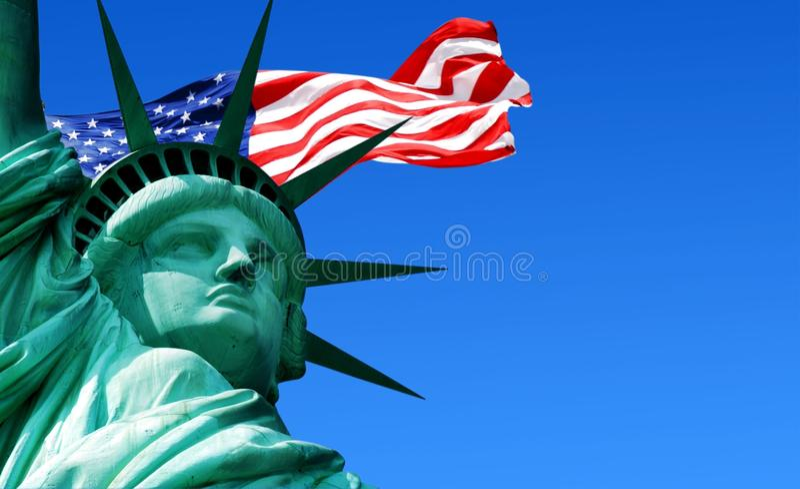 Statue of liberty, new york city royalty free illustration