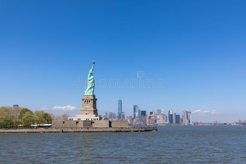 The Statue of Liberty in New York City royalty free stock photo