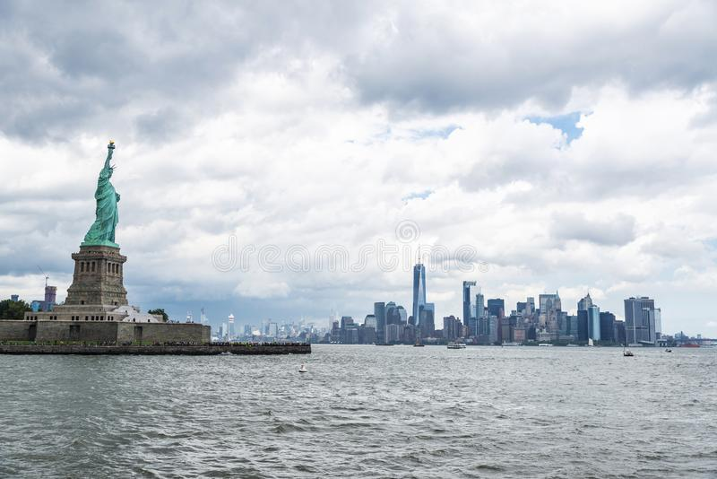 Statue of Liberty in New York City, USA stock photo
