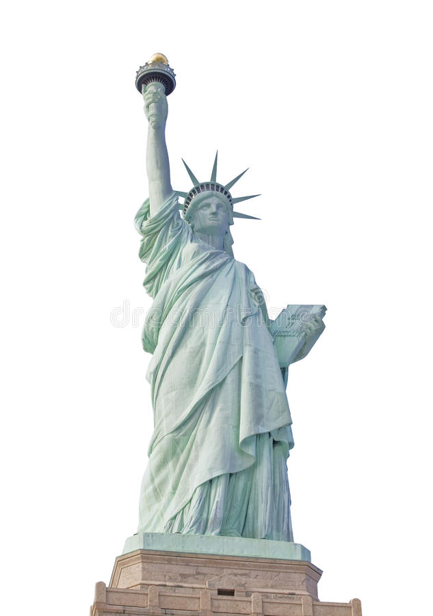 Download Statue Of Liberty In New York Isolated Stock Photo - Image: 18927364