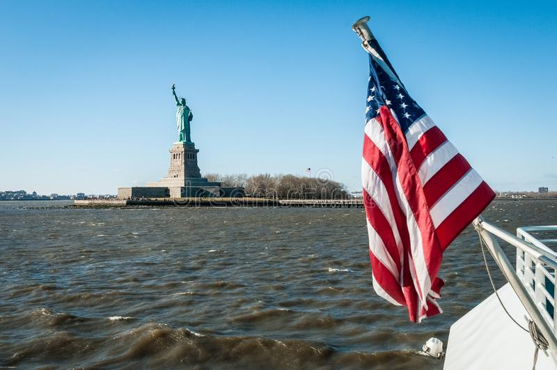 Statue of Liberty in New York, United States. Statue of Liberty in Liberty Island, New York City, United States of America stock photography