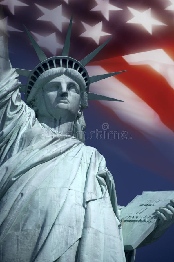 Statue of Liberty - New York - United States. The Statue of Liberty - symbol of freedom. New York in the United States of America royalty free stock photo