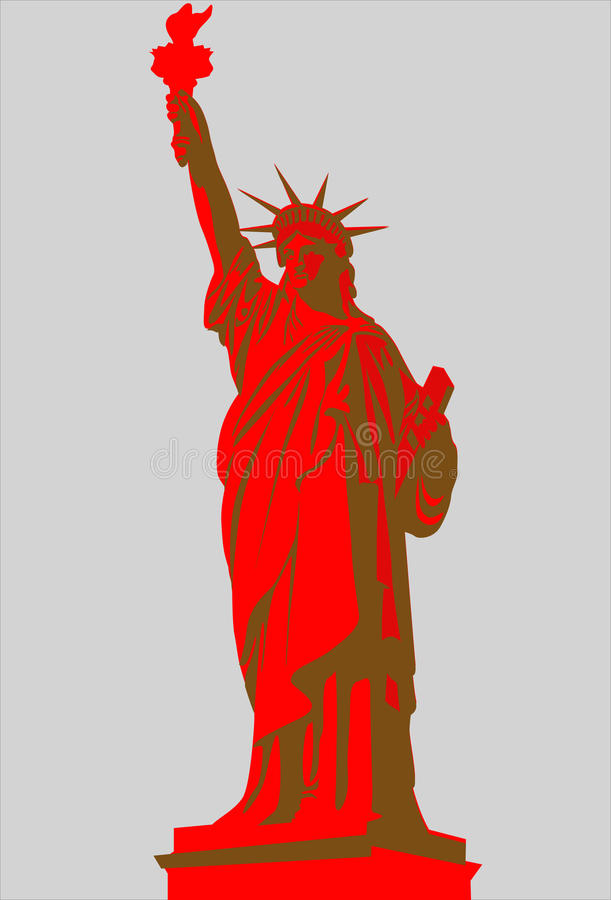 The Statue of Liberty. From NY, USA vector illustration