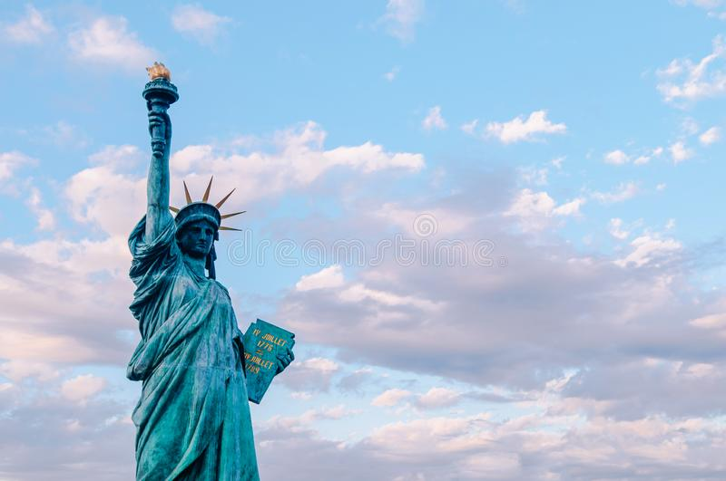 Statue of Liberty at Odaiba Tokyo.  replica of original monument in New York royalty free stock photos