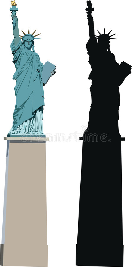 Statue of Liberty in Paris vector illustration