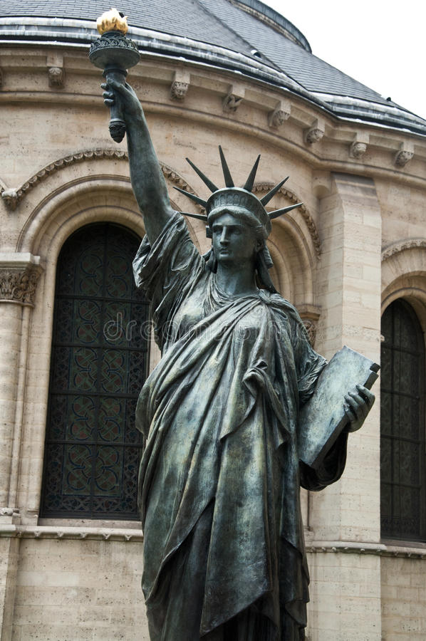 Statue of Liberty in Paris stock image