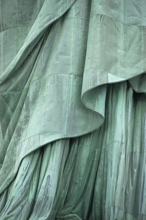 Download Statue of Liberty's Robe stock image. Image of historical - 6859373