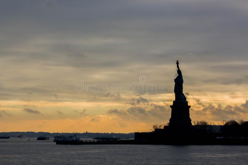Statue of Liberty silhouette royalty free stock image