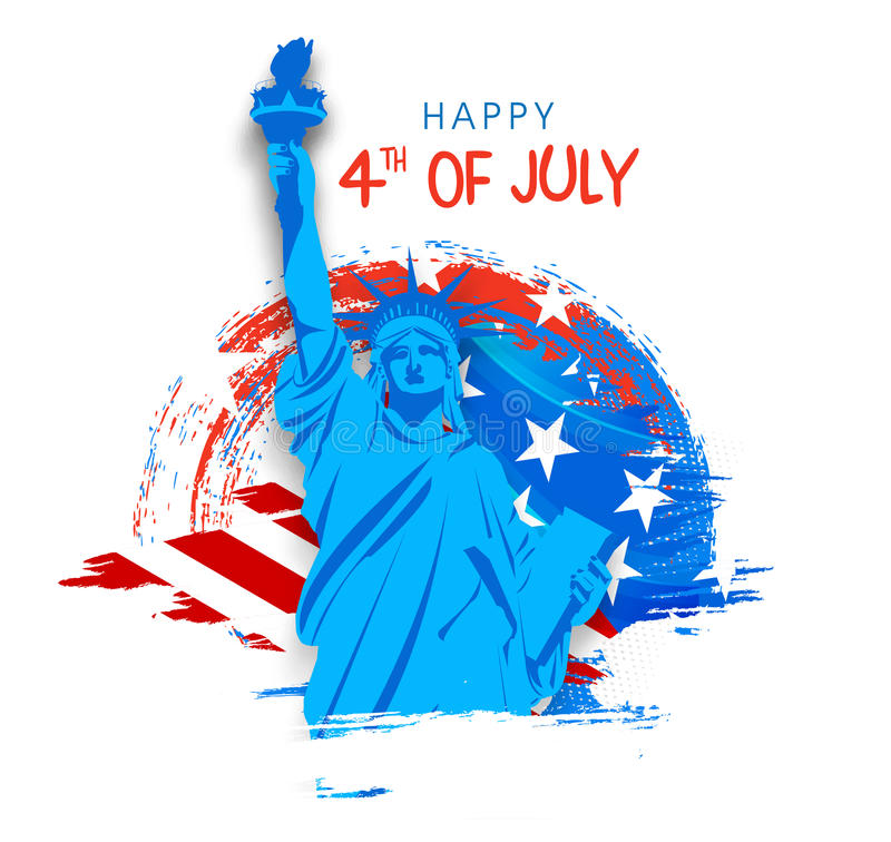 Statue of Liberty for 4th of July celebration. vector illustration