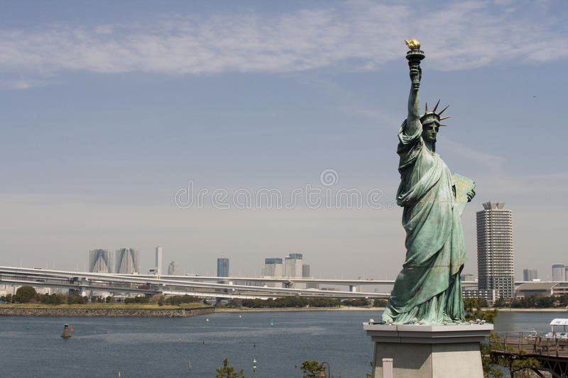 Statue Of Liberty In Tokyo Stock Photos