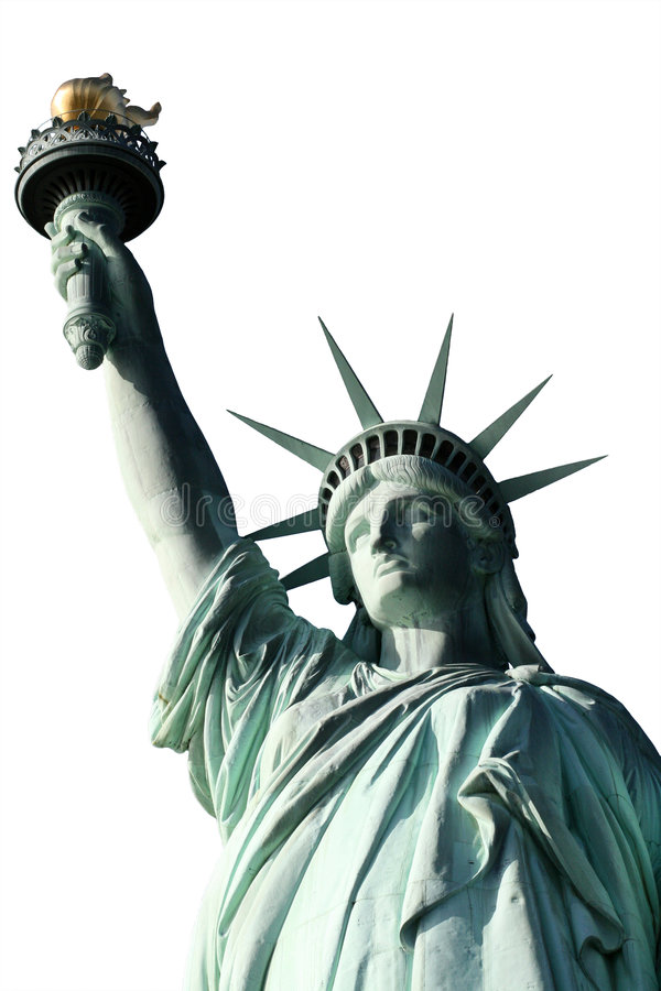 Statue of Liberty Top half Isolated stock images