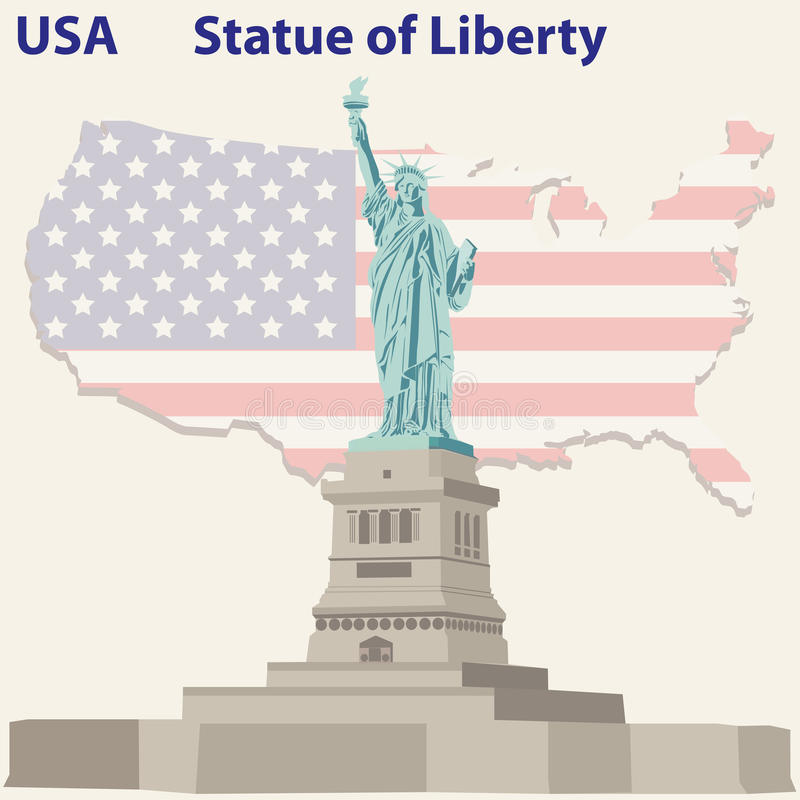 Statue of Liberty. In USA royalty free illustration