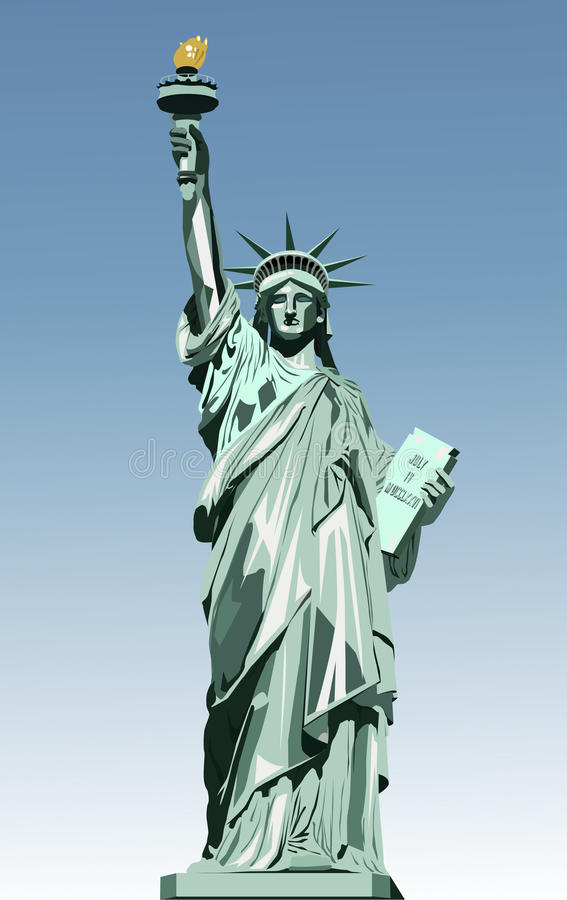 Statue of liberty. Vector illustration of statue of liberty royalty free illustration