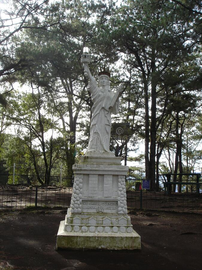 A statue of Libery replica in camp john hay Baguio city stock images