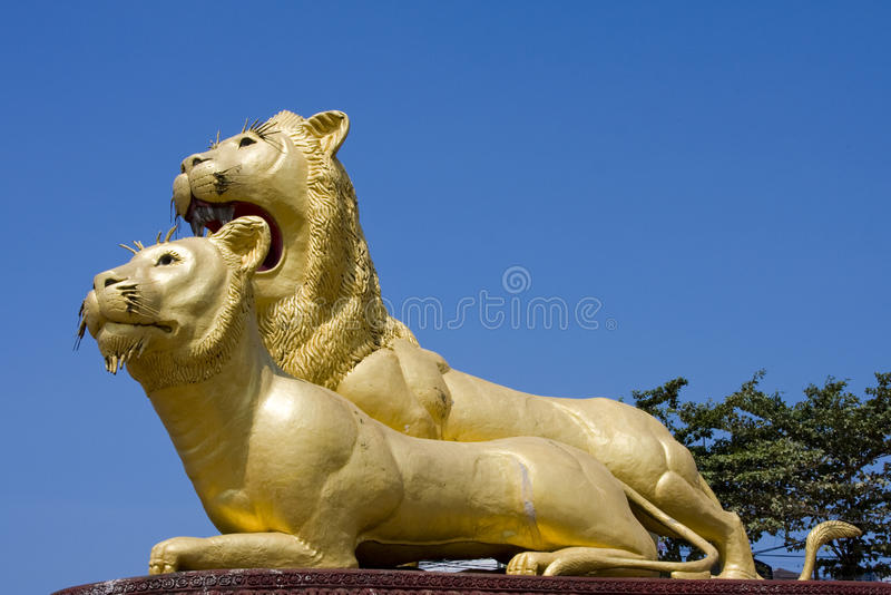 Download Statue of lion stock photo. Image of sihanoukville, hotel - 14875762
