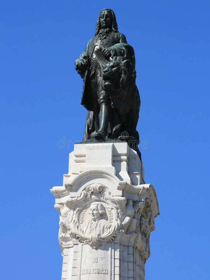 Download Statue In Lisbon Royalty Free Stock Images - Image: 8559559