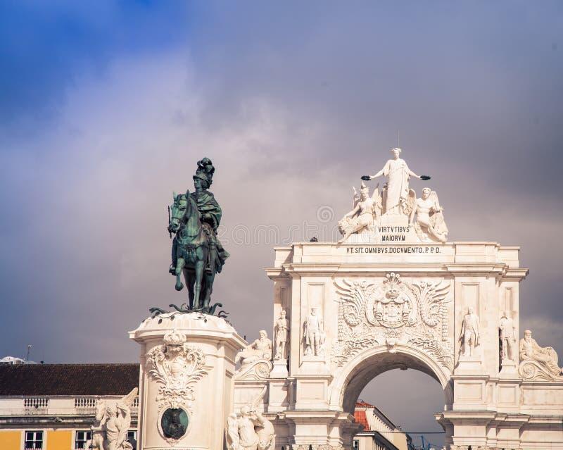 Statue Lisbonne Portugal photos stock