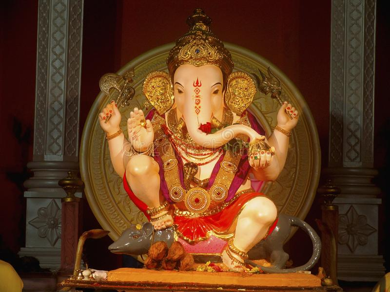 Statue of Lord Ganesh worshipped in Maharasthra during Ganesh festival. Statue of Lord Ganesh worshipped in Maharashtra during Ganesh festival stock photos