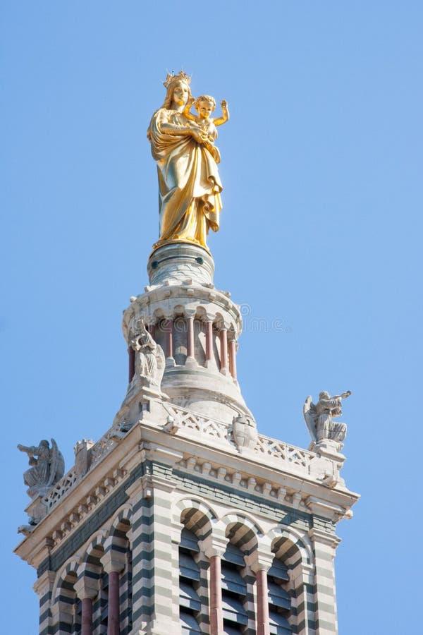 Statue Madonnas und des Kindes stockbilder
