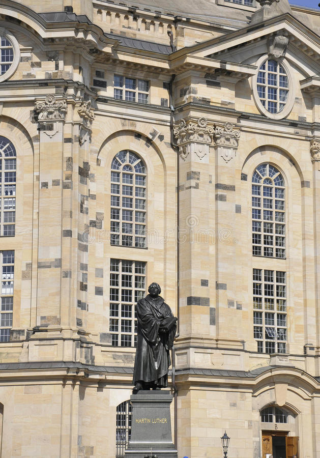 Statue of Martin Luther from Dresden in Germany. Statue of Martin Luther from Dresden downtown in Germany on a day of august 28 2014 royalty free stock photo