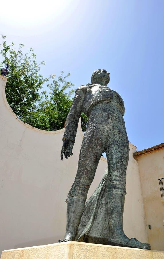 Statue of a matador, torero, in Ronda, Malaga Province, Spain royalty free stock photos