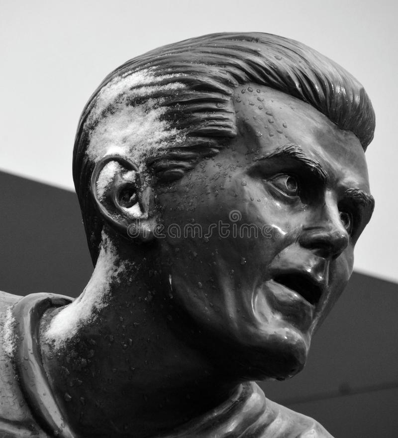 Statue of Maurice Richard stock photography