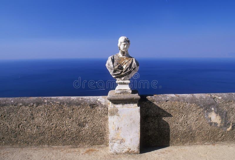 Statue by the Mediterranean