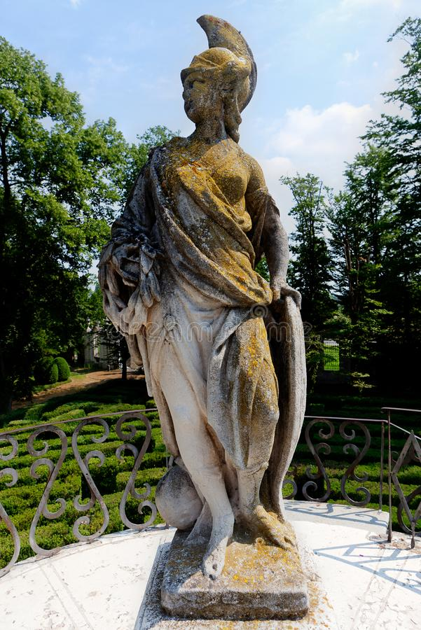 Statue Minerva Labyrinth de villa Pisani, Stra, Vénétie, Italie de parc d'amour photos stock