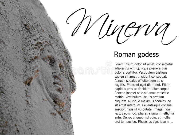 Statue of Minerva stock photo