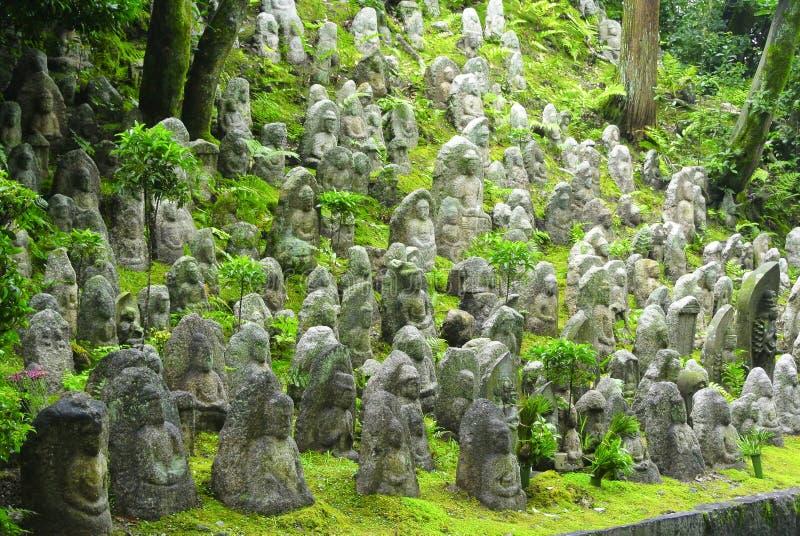 Statue miniatura di Buddha fotografie stock libere da diritti