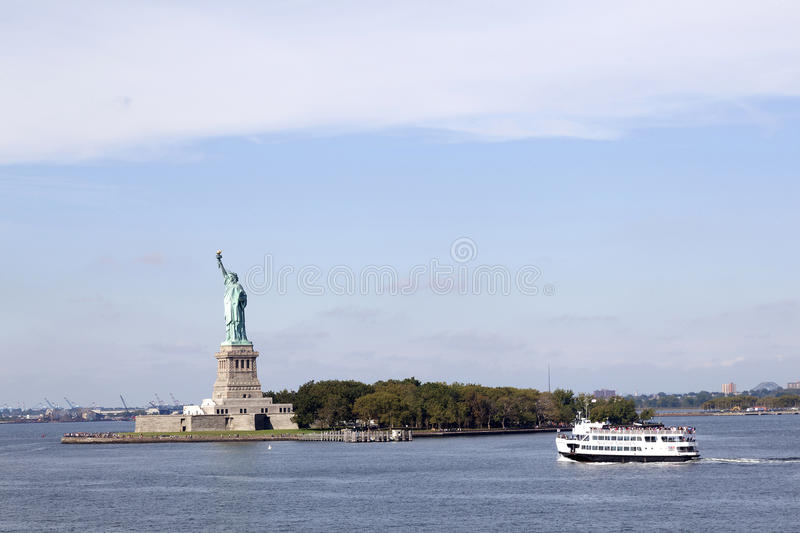 Statue of miss liberty in new york city royalty free stock photos