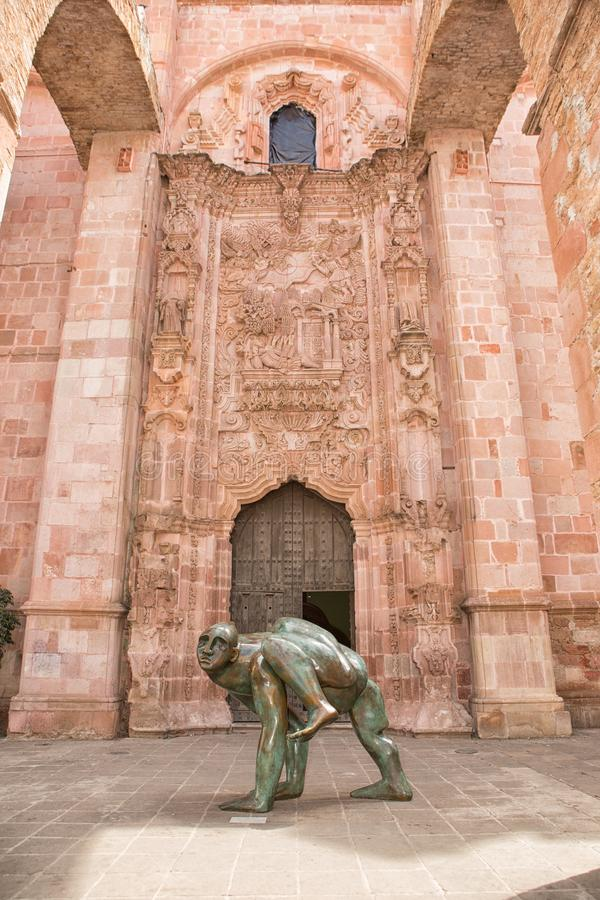 Statue moderne dans Zacatecas Mexique photo stock