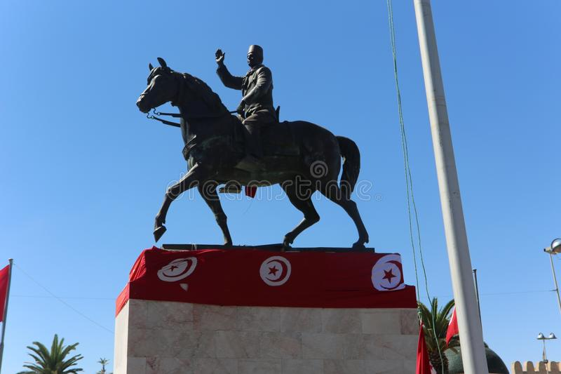 Statue, Monument, Flag, Horse stock images