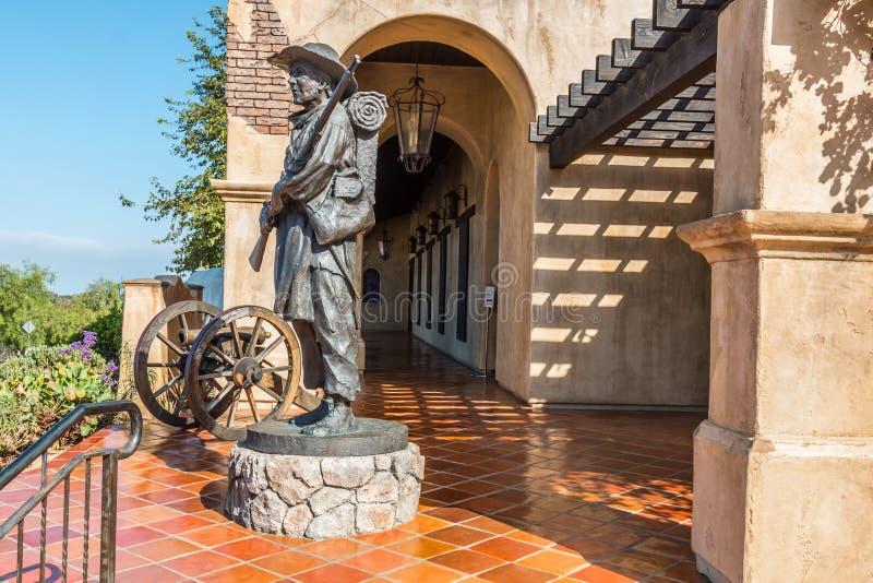 Statue am mormonischen Bataillon-Standort in San Diego lizenzfreie stockfotografie