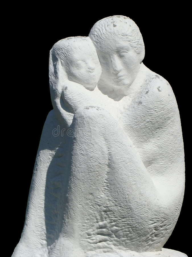 Statue Of Mother And Baby Stock Photo