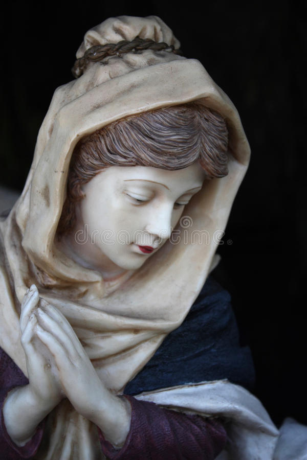 Statue of Mother Mary. Mother Mary Statue isolated shot taken from Nativity Scene royalty free stock images