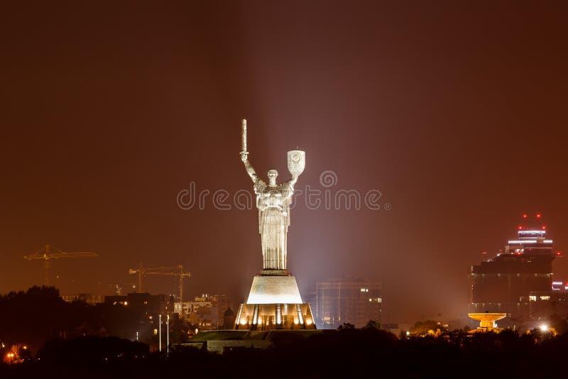 Statue of the Motherland, in Kiev, Ukraine royalty free stock photos