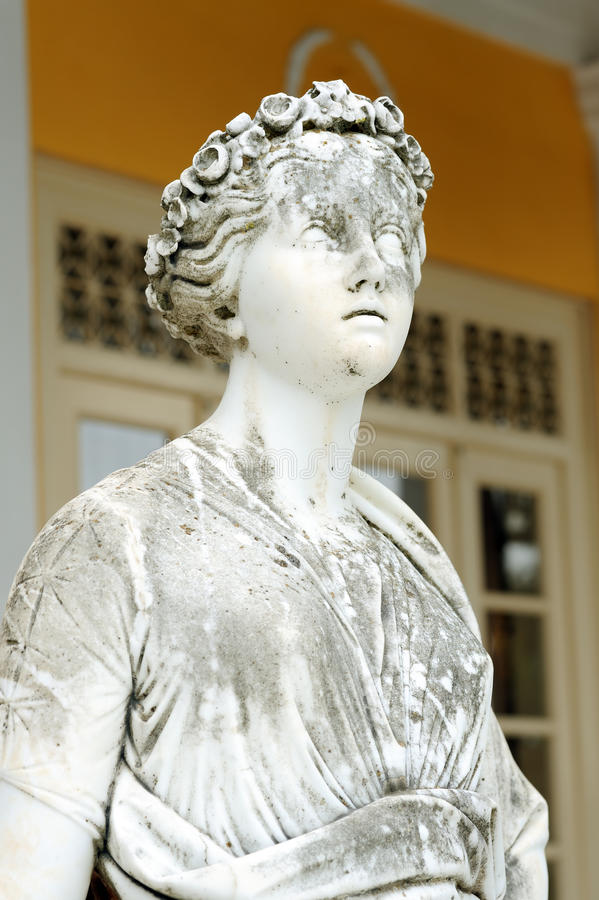 Download Statue of a Muse Euterpe stock image. Image of muse, achillion - 28586877