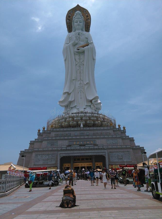 Statue Nanhais Guanyin, in Sanya, Hainan in China stockbilder