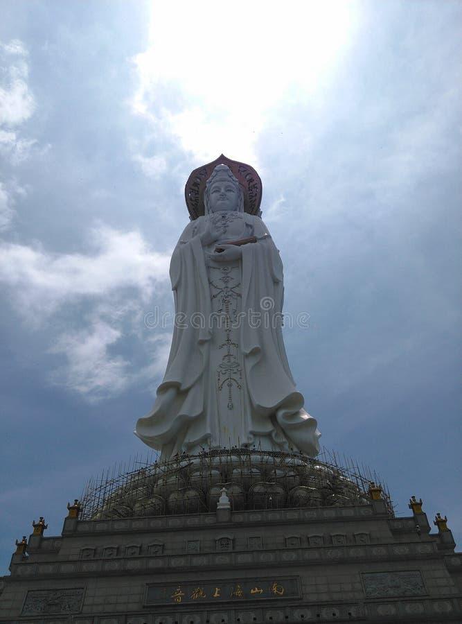 Statue Nanhais Guanyin, in Sanya, Hainan in China stockbild